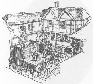 Inn Yards were a very popular location for plays to be produced.