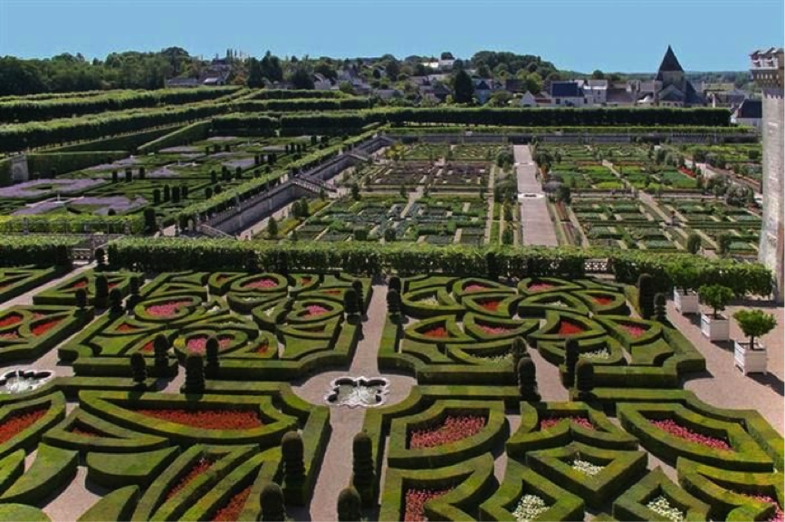 The Garden of Love at the Château de Villandry in the Loire Valley, France. (Chateau)