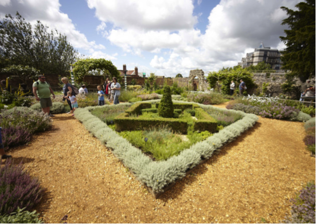 The Tudor House & Garden near Southampton, a modern recreation of a Tudor style garden